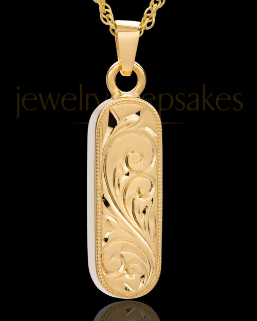 Locket Jewelry 14K Gold Plated Majesty Cylinder Keepsake