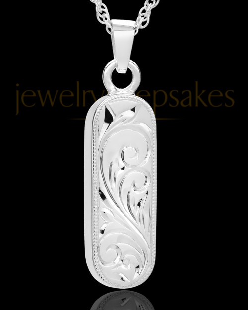 Locket Jewelry 14K White Gold Majesty Cylinder Keepsake