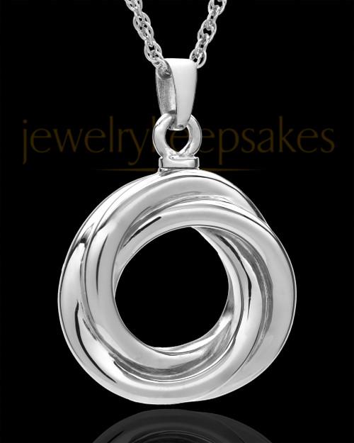 Urn Pendant Sterling Silver Ringed Eternity Keepsake