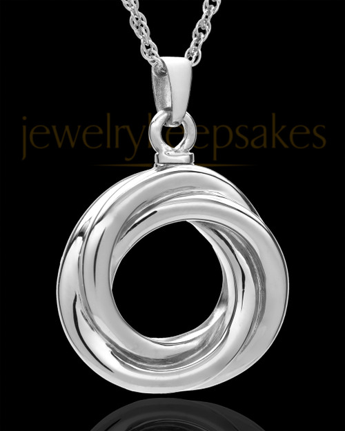 Urn Pendant 14K White Gold Ringed Eternity