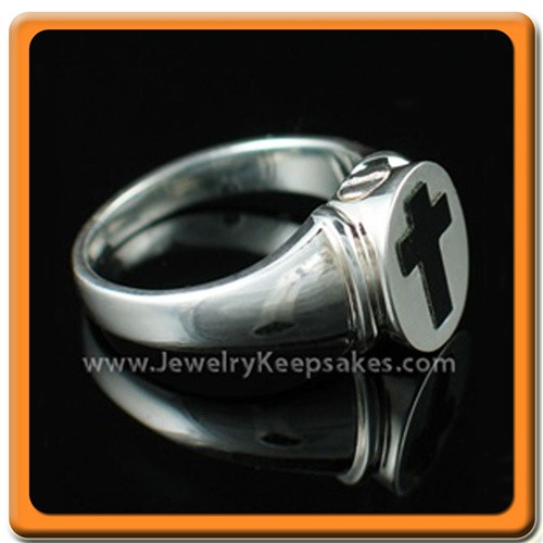 Ladies Silver Eternity Memorial Ring