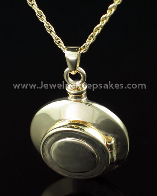 Cremation Necklace 14K Gold Plated Piety Keepsake