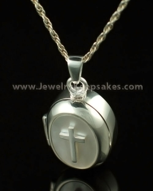 Cremation Keepsake 14K White Gold Sanctity