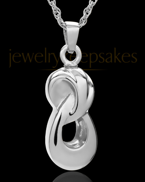Cremation Ash Necklace Sterling Silver Infinity Companion Locket - 2 Person