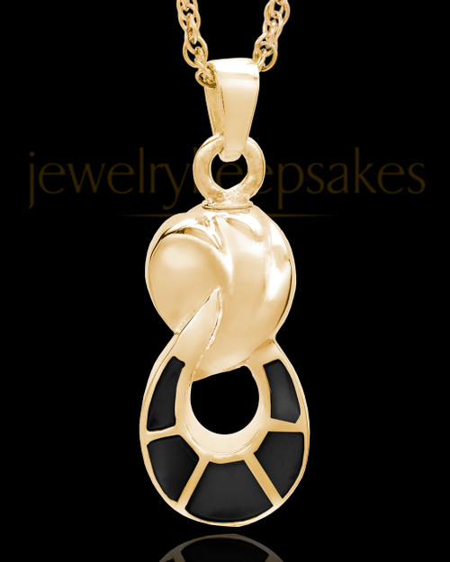 Gold Plated Traditional Companion Infinity Urn Pendant - 2 Person