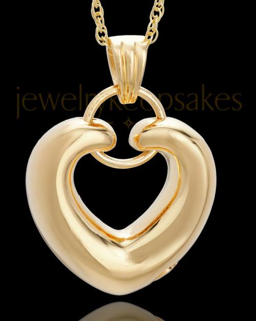 Cremation Keepsake Gold Vermeil Loyalty Heart