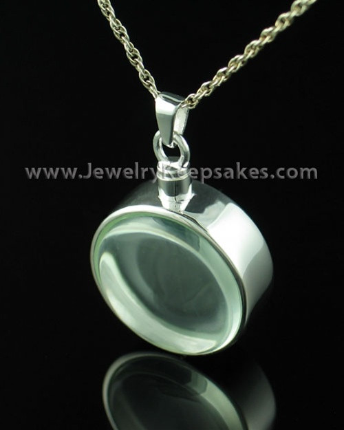 Keepsake Jewelry Sterling Silver and Glass Solitude Locket