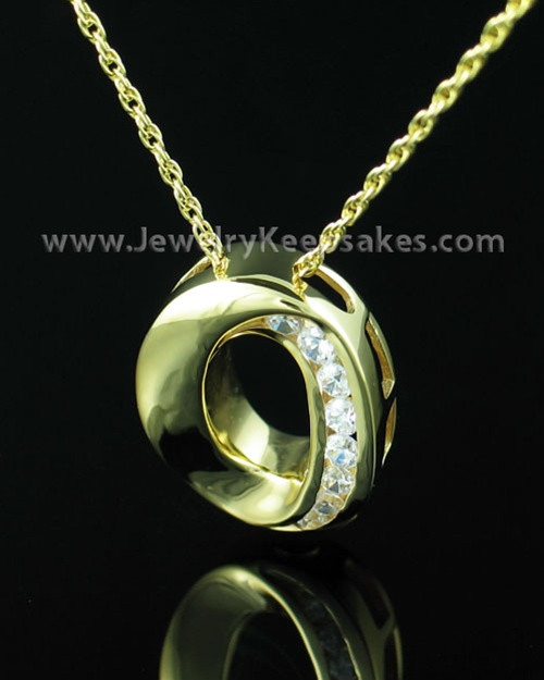Funeral Jewelry Gold Vermeil Commitment Locket