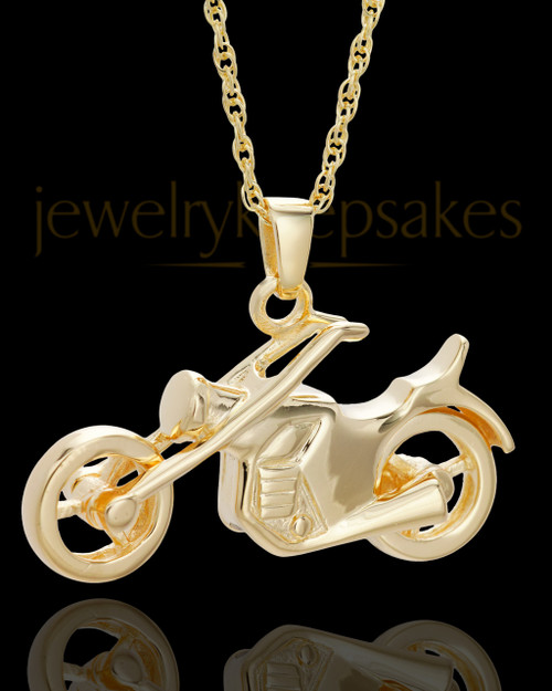 Cremains Jewelry Gold Vermeil Cruisin Necklace