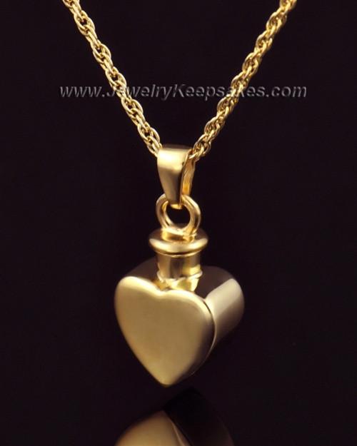 Urn Locket Small Heart 14k Gold