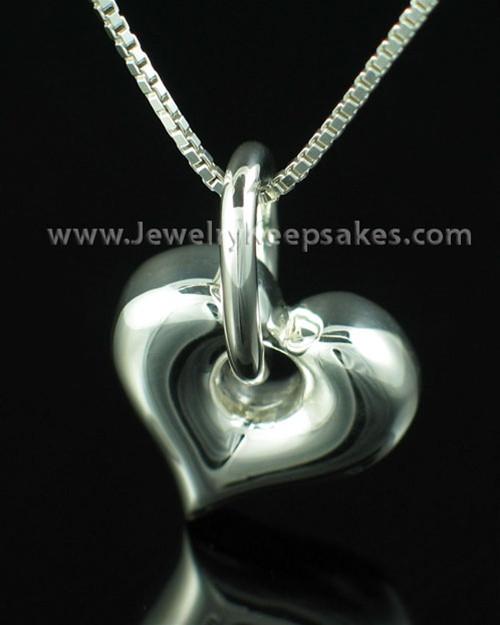 Necklace Urn Sterling Silver Dangle Heart