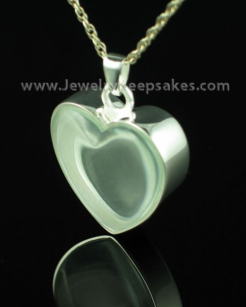 Cremation Locket Sterling Silver Starry Heart