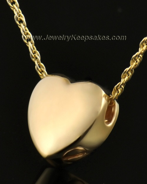 14k Gold Remembrance Pendant Commitment Heart - Engravable