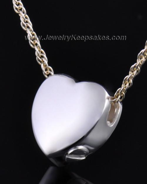 Remembrance Pendant Commitment Heart - Sterling Silver - Engravable