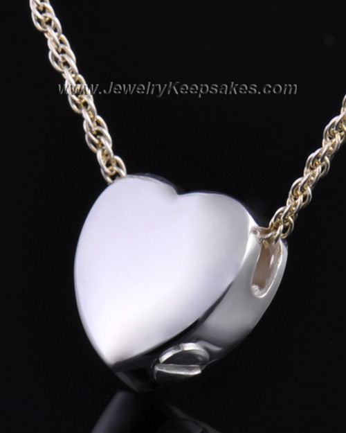 Remembrance Pendant Commitment Heart - Sterling Silver - Engravable