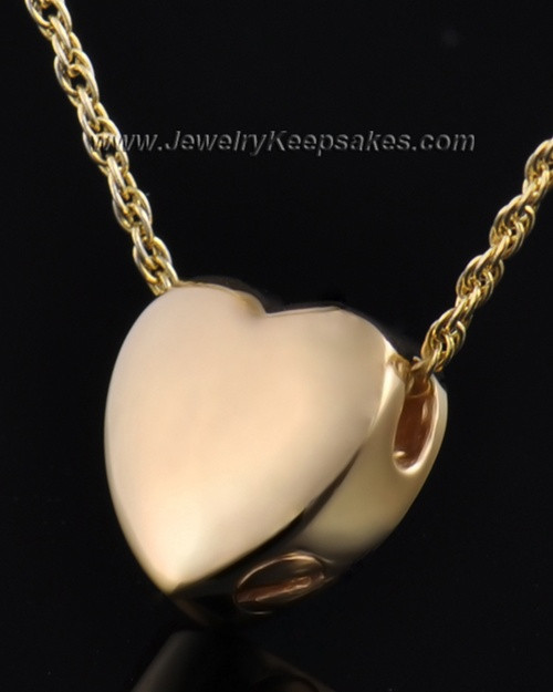 Remembrance Pendant Commitment Heart - Gold Plated - Engravable