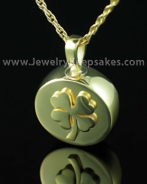 Memorial Necklace Prosperity - Gold Plated - Engravable