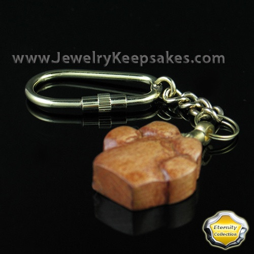 Ash Jewelry Wood Love My Paw Keychain- Eternity Collection