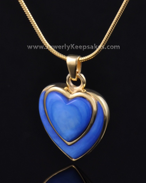 Ash Pendant Gold Plated Azure Heart-Engravable