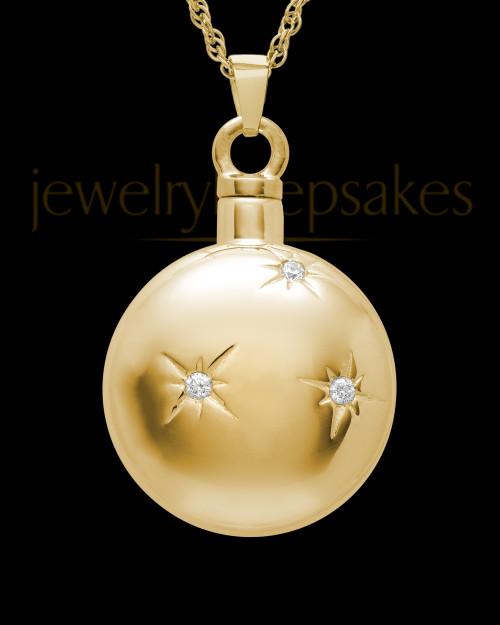 Keepsake Pendant Starburst - Gold Plated - Engravable