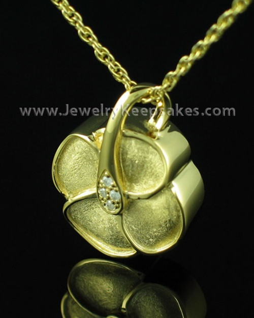 Jewelry Urn Blossom - Gold Plated - Engravable