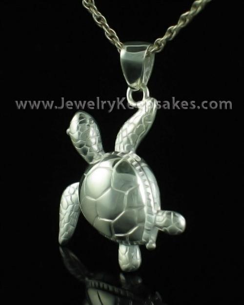 Sterling Silver Keepsake Pendant Terrapin Turtle-Engravable