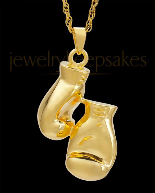 Cremation Necklace Spar - Gold Plated - Engravable