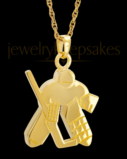 Remembrance Jewelry 14k Gold Ice Hockey Keepsake