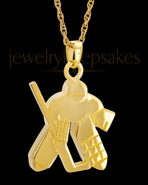 Remembrance Jewelry 14k Gold Ice Hockey Keepsake