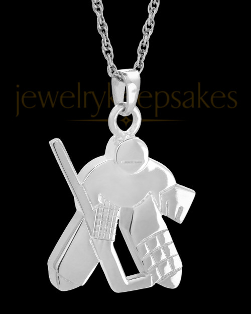 Remembrance Jewelry Sterling Silver Ice Hockey Keepsake