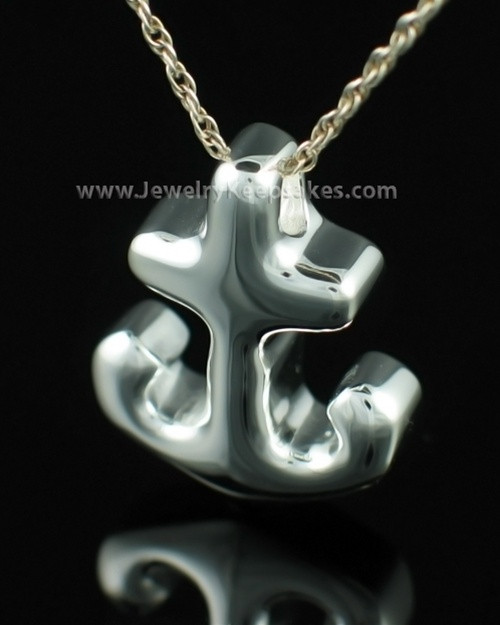 Funeral Jewelry Sterling Silver Anchors Away Keepsake