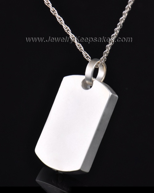 Ash Locket Sterling Silver Austere Rectangle Keepsake