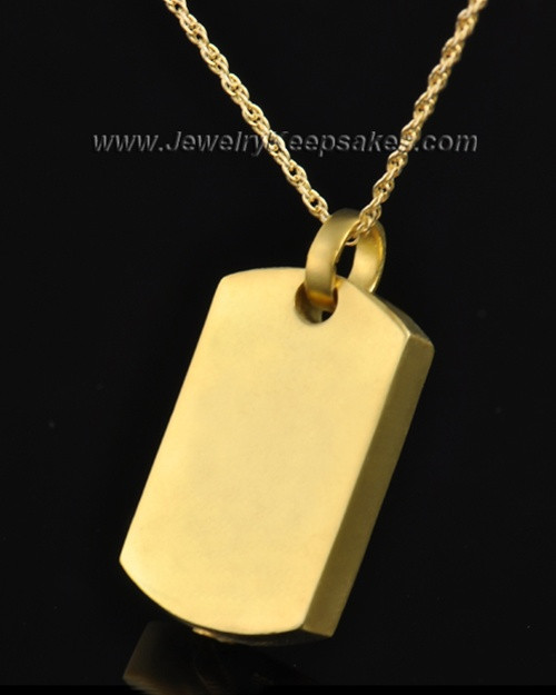 Ash Locket Gold Plated Austere Rectangle Keepsake