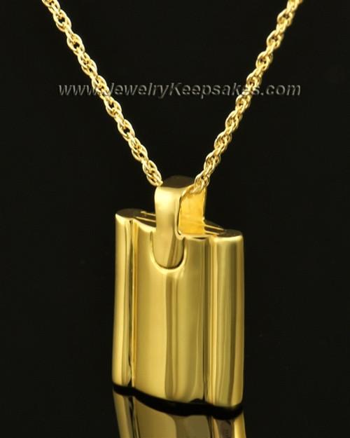 Cremains Pendant 14k Gold Elegance Flask Keepsake