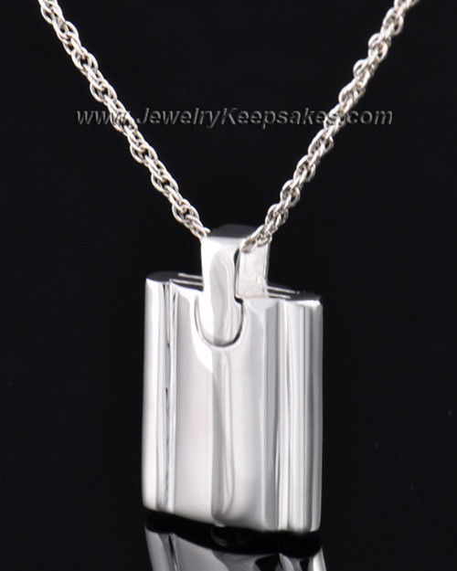 Cremains Pendant Sterling Silver Elegance Flask Keepsake