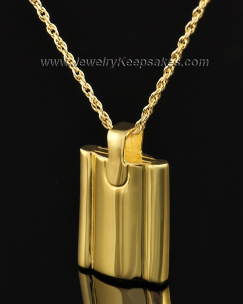Cremains Pendant Gold Plated Elegance Flask Keepsake