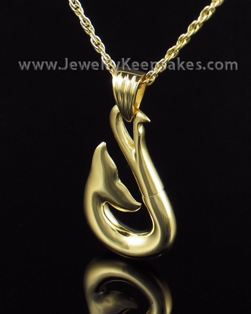 Cremation Charm Gold Plated Whale Keepsake