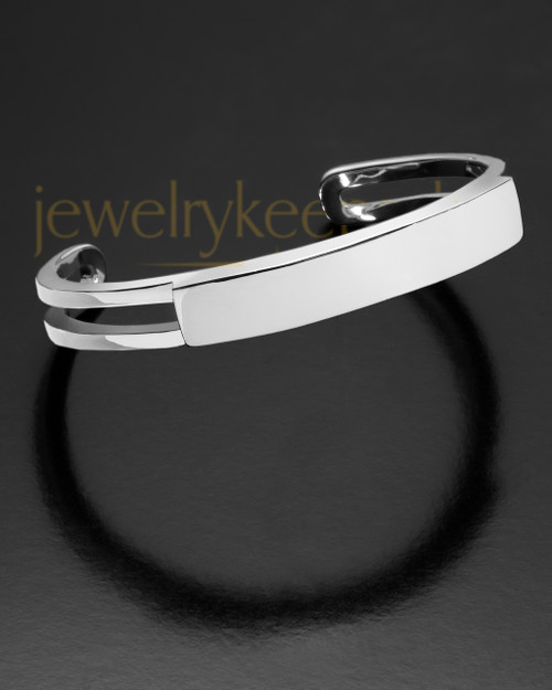 Women's Remembrance Jewelry Bracelet Stainless Sliding Cuff