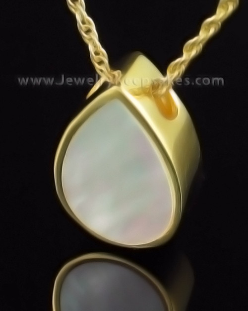 Cremation Necklace Gold Plated Pearly Miss You Keepsake