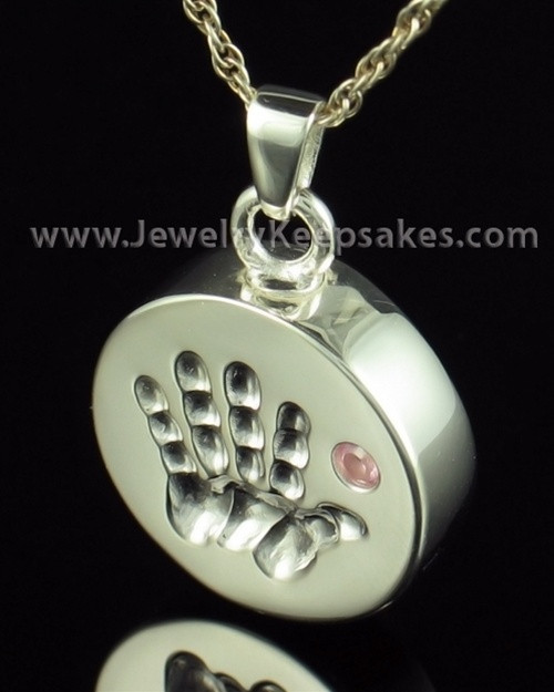 Remembrance Jewelry Sterling Silver My Hand Pink Keepsake