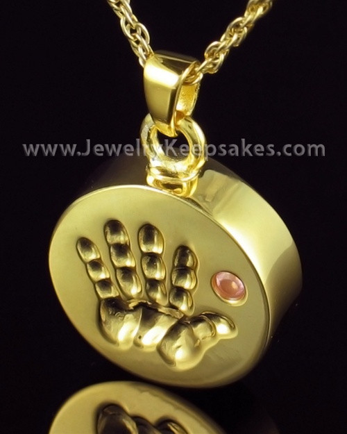 Remembrance Jewelry Gold Plated My Hand Pink Keepsake