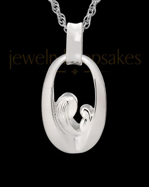Jewelry Urn Sterling Silver Heartfelt Round Keepsake