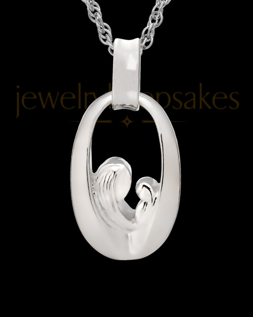 Jewelry Urn Sterling Silver Heartfelt Round Keepsake