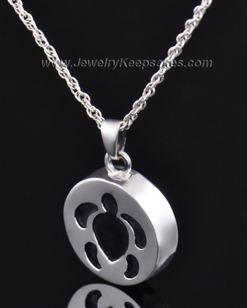 Cremation Pendant Sterling Silver Aquatic Keepsake