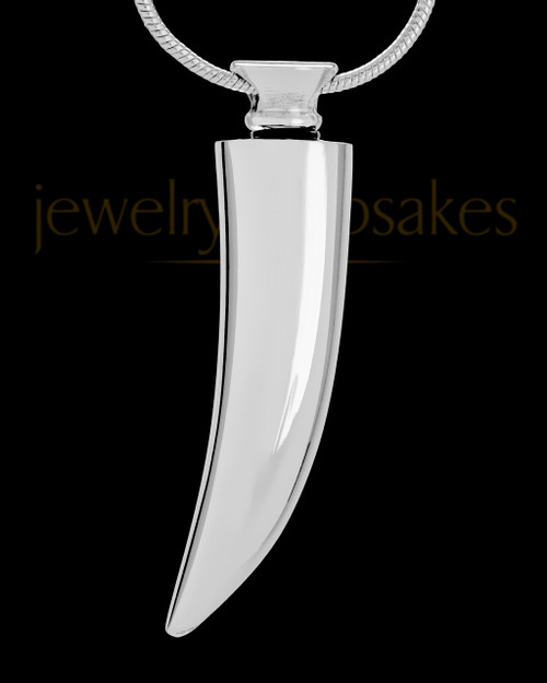 Cremation Ash Jewelry Silver Plated Saber Tooth - Eternity Collection