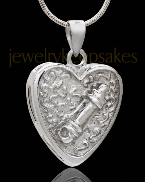Silver Plated Remember Me Pet Cremation Urn Pendant