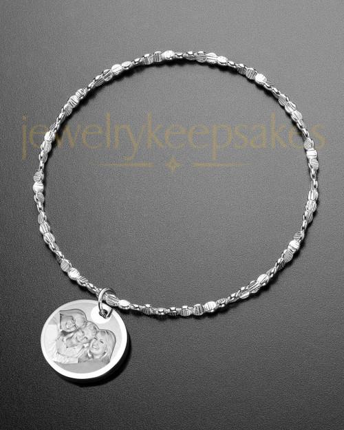 Luxury Round Photo Engraved Bracelet