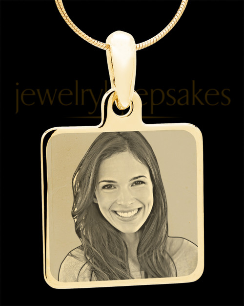 Gold Plated over Stainless Photo Square