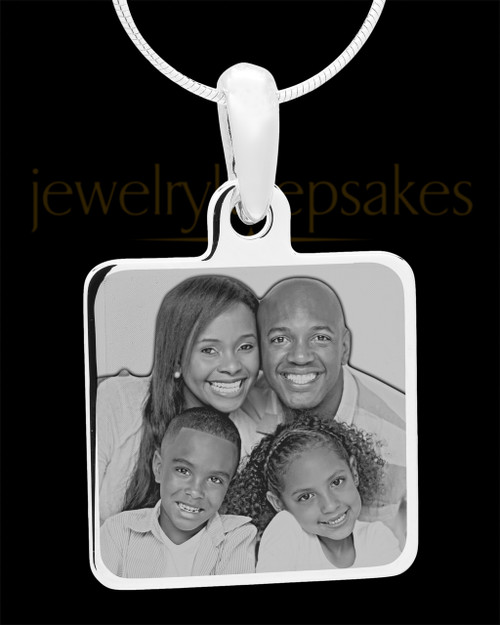 Photo Engraved Stainless Steel Square