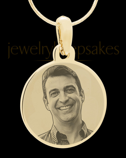 Gold Plated over Stainless Photo Large Round